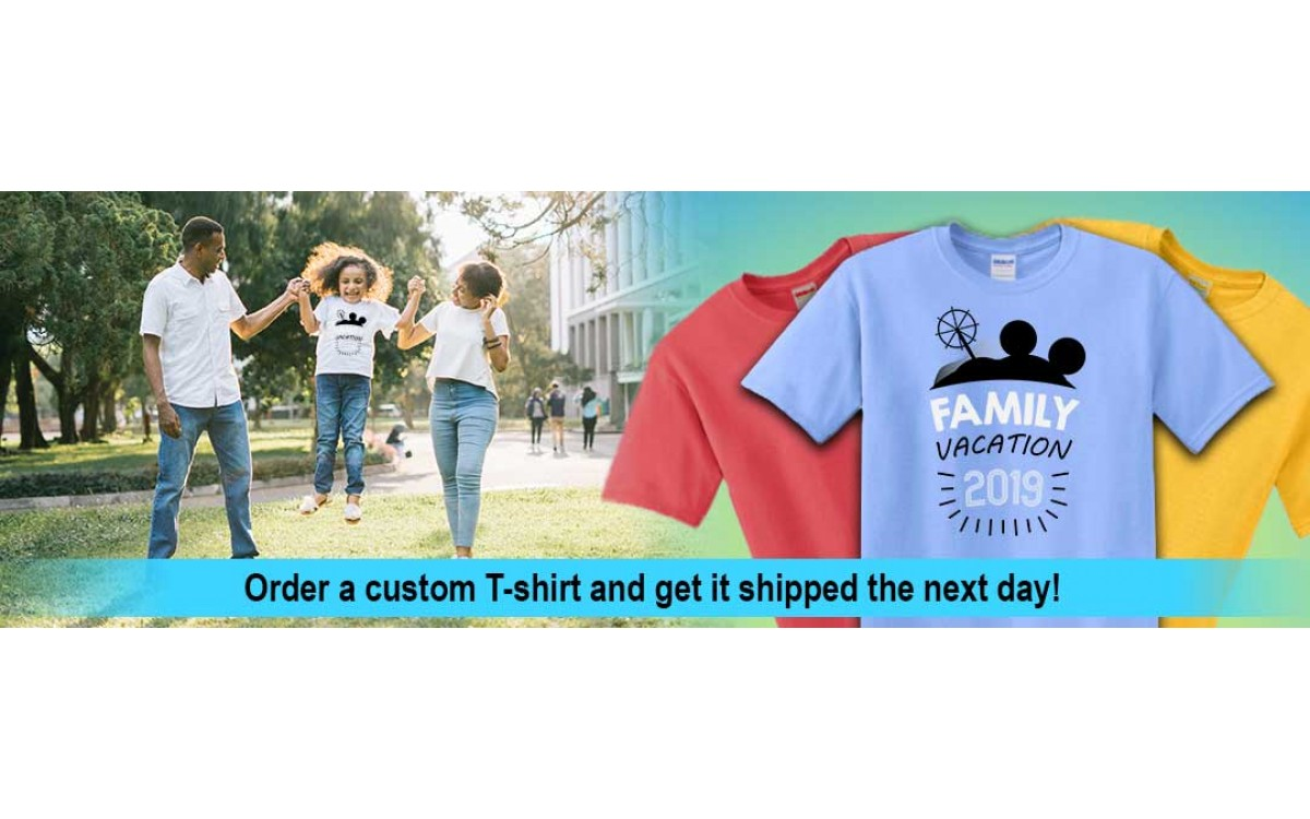 Need a custom T-Shirt Fast? New site launch Shirts Next Day